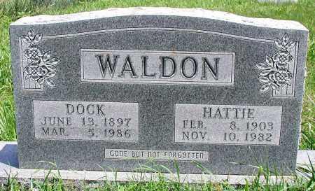 WALDON, HATTIE - Newton County, Arkansas | HATTIE WALDON - Arkansas Gravestone Photos