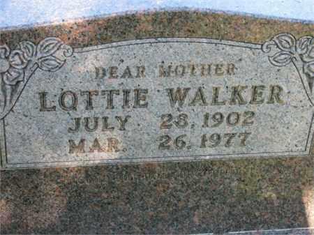 WALKER, LOTTIE - Newton County, Arkansas | LOTTIE WALKER - Arkansas Gravestone Photos