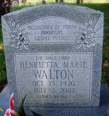 WALTON, HENRIETTA MARIE - Newton County, Arkansas   HENRIETTA MARIE WALTON - Arkansas Gravestone Photos