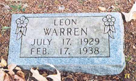 WARREN, LEON - Newton County, Arkansas | LEON WARREN - Arkansas Gravestone Photos