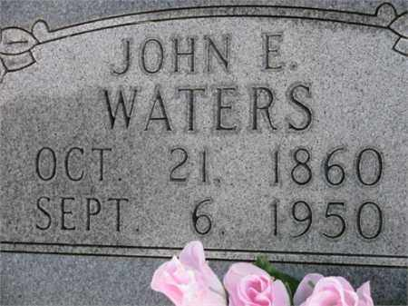 WATERS, JOHN E. - Newton County, Arkansas   JOHN E. WATERS - Arkansas Gravestone Photos