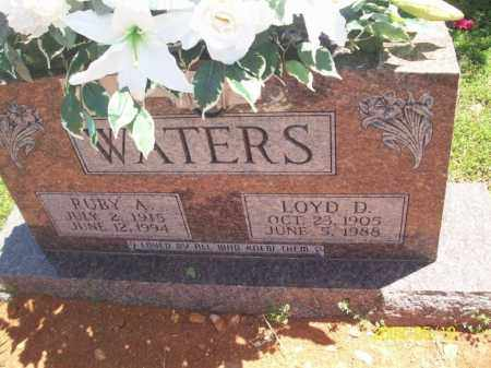 WATERS, LOYD D - Newton County, Arkansas | LOYD D WATERS - Arkansas Gravestone Photos