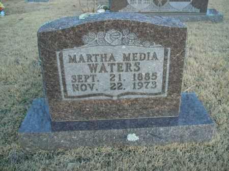 WATERS, MARTHA MEDIA - Newton County, Arkansas | MARTHA MEDIA WATERS - Arkansas Gravestone Photos
