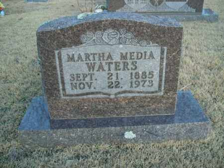WATERS, MARTHA MEDIA - Newton County, Arkansas | MARTHA MEDIA WATERS - Arkansas Gravestone Photos