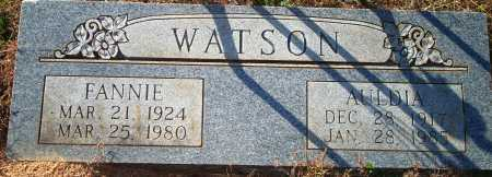WATSON, AULDIA - Newton County, Arkansas   AULDIA WATSON - Arkansas Gravestone Photos