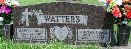 WATTERS, MARY J - Newton County, Arkansas | MARY J WATTERS - Arkansas Gravestone Photos