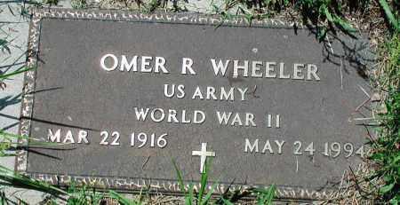 WHEELER (VETERAN WWII), OMER R - Newton County, Arkansas | OMER R WHEELER (VETERAN WWII) - Arkansas Gravestone Photos