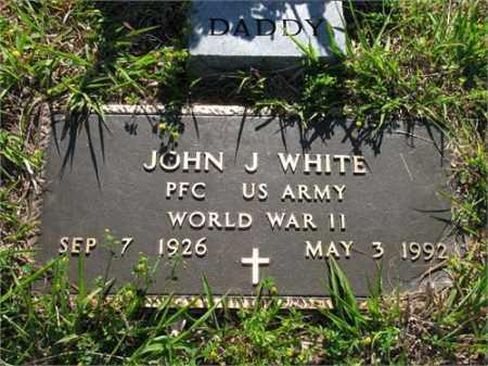 WHITE (VETERAN WWII), JOHN J - Newton County, Arkansas   JOHN J WHITE (VETERAN WWII) - Arkansas Gravestone Photos