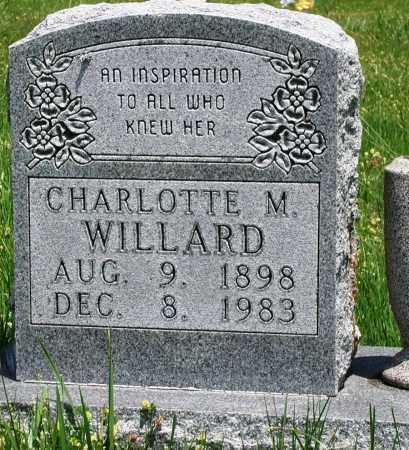 WILLARD, CHARLOTTE M - Newton County, Arkansas | CHARLOTTE M WILLARD - Arkansas Gravestone Photos