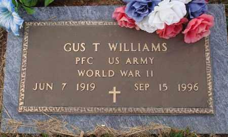WILLIAMS  (VETERAN WWII), GUS T. - Newton County, Arkansas   GUS T. WILLIAMS  (VETERAN WWII) - Arkansas Gravestone Photos