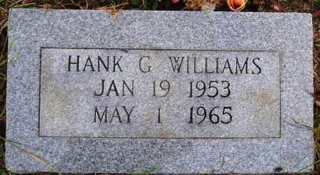 WILLIAMS, HANK G. - Newton County, Arkansas   HANK G. WILLIAMS - Arkansas Gravestone Photos