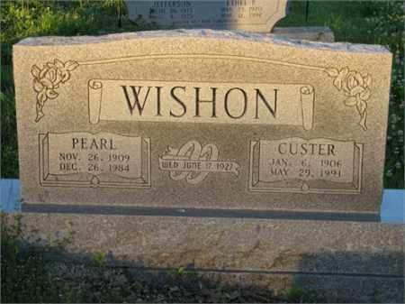 WISHON, GEORGE CUSTER - Newton County, Arkansas | GEORGE CUSTER WISHON - Arkansas Gravestone Photos