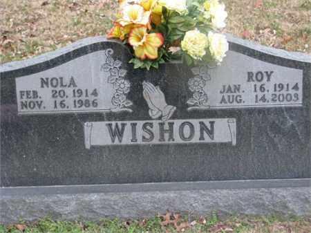 WISHON, NOLA - Newton County, Arkansas   NOLA WISHON - Arkansas Gravestone Photos