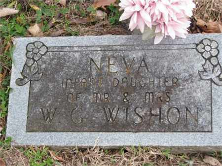 WISHON, NEVA - Newton County, Arkansas | NEVA WISHON - Arkansas Gravestone Photos