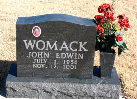 WOMACK, JOHN EDWIN - Newton County, Arkansas | JOHN EDWIN WOMACK - Arkansas Gravestone Photos