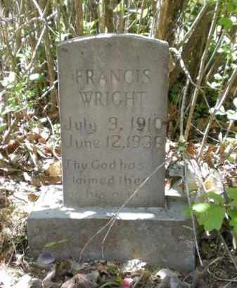 WRIGHT, FRANCES - Newton County, Arkansas   FRANCES WRIGHT - Arkansas Gravestone Photos