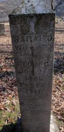 YOUNG, SARAH J - Newton County, Arkansas   SARAH J YOUNG - Arkansas Gravestone Photos