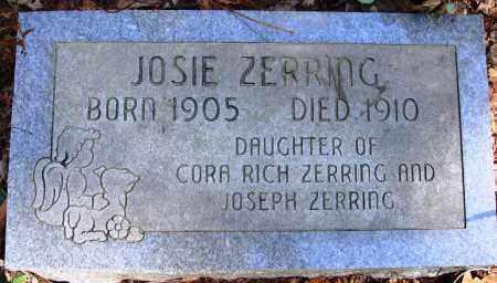 ZERRING, JOSIE - Newton County, Arkansas | JOSIE ZERRING - Arkansas Gravestone Photos