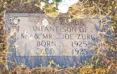 ZURGA, TONY - Newton County, Arkansas   TONY ZURGA - Arkansas Gravestone Photos