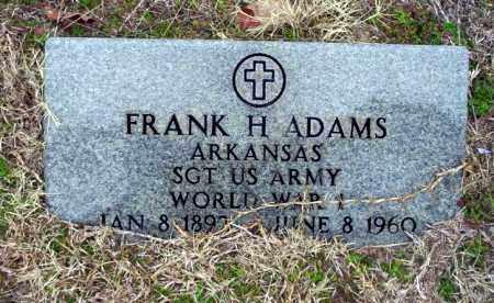 ADAMS (VETERAN WWI), FRANK H - Ouachita County, Arkansas   FRANK H ADAMS (VETERAN WWI) - Arkansas Gravestone Photos