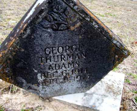 ADAMS, GEORGE THURMAN - Ouachita County, Arkansas | GEORGE THURMAN ADAMS - Arkansas Gravestone Photos