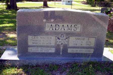 ADAMS, GEO WALTER - Ouachita County, Arkansas | GEO WALTER ADAMS - Arkansas Gravestone Photos