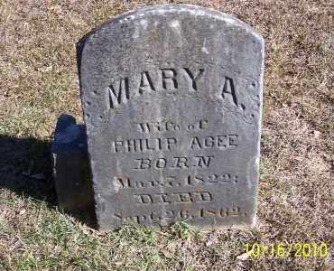AGEE, MARY A - Ouachita County, Arkansas | MARY A AGEE - Arkansas Gravestone Photos