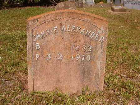 ALEXANDER, JANNIE - Ouachita County, Arkansas | JANNIE ALEXANDER - Arkansas Gravestone Photos