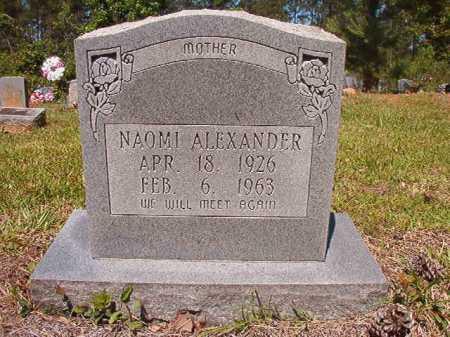 ALEXANDER, NAOMI - Ouachita County, Arkansas | NAOMI ALEXANDER - Arkansas Gravestone Photos