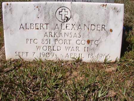 ALEXANDER (VETERAN WWII), ALBERT - Ouachita County, Arkansas | ALBERT ALEXANDER (VETERAN WWII) - Arkansas Gravestone Photos