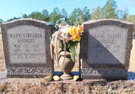 ANDRIST, MARY VIRGINA - Ouachita County, Arkansas   MARY VIRGINA ANDRIST - Arkansas Gravestone Photos