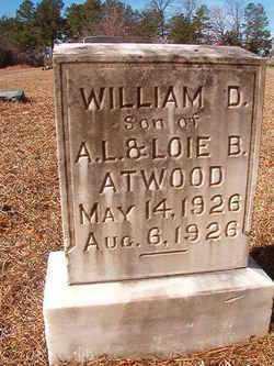 ATWOOD, WILLIAM D - Ouachita County, Arkansas   WILLIAM D ATWOOD - Arkansas Gravestone Photos