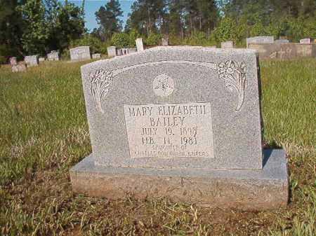 BAILEY, MARY ELIZABETH - Ouachita County, Arkansas   MARY ELIZABETH BAILEY - Arkansas Gravestone Photos