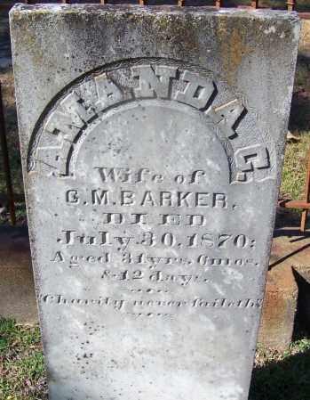 BARKER, AMANDA C - Ouachita County, Arkansas | AMANDA C BARKER - Arkansas Gravestone Photos