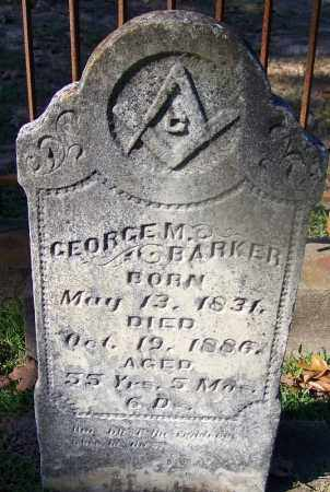 BARKER, GEORGE M - Ouachita County, Arkansas | GEORGE M BARKER - Arkansas Gravestone Photos