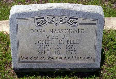 MASSENGALE BELL, DONA - Ouachita County, Arkansas | DONA MASSENGALE BELL - Arkansas Gravestone Photos