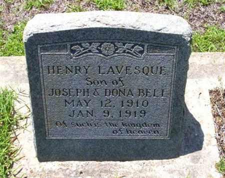 BELL, HENRY LAVESQUE - Ouachita County, Arkansas   HENRY LAVESQUE BELL - Arkansas Gravestone Photos