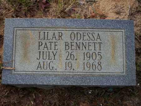 PATE BENNETT, LILAR ODESSA - Ouachita County, Arkansas | LILAR ODESSA PATE BENNETT - Arkansas Gravestone Photos