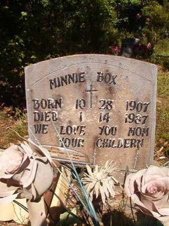 BOX, MINNIE - Ouachita County, Arkansas | MINNIE BOX - Arkansas Gravestone Photos