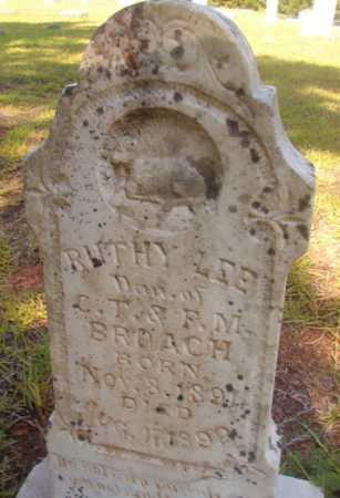 BROACH, RUTHY LEE - Ouachita County, Arkansas   RUTHY LEE BROACH - Arkansas Gravestone Photos