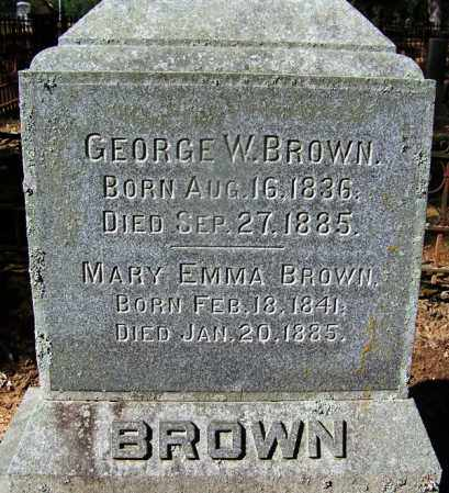 BROWN, GEORGE W - Ouachita County, Arkansas | GEORGE W BROWN - Arkansas Gravestone Photos