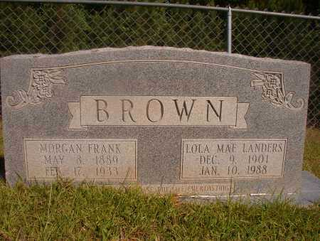 BROWN, MORGAN FRANK - Ouachita County, Arkansas | MORGAN FRANK BROWN - Arkansas Gravestone Photos