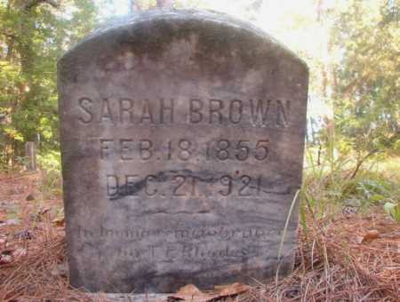 BROWN, SARAH - Ouachita County, Arkansas | SARAH BROWN - Arkansas Gravestone Photos