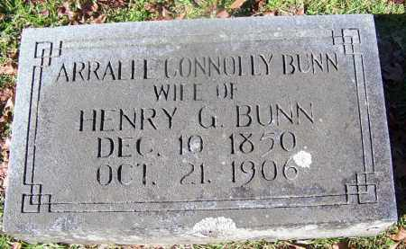 CONNOLLY BUNN, ARRALEE - Ouachita County, Arkansas | ARRALEE CONNOLLY BUNN - Arkansas Gravestone Photos