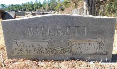 WOTEN BURKETT, MYRON - Ouachita County, Arkansas   MYRON WOTEN BURKETT - Arkansas Gravestone Photos