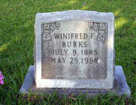 BURKS, WINIFRED F - Ouachita County, Arkansas   WINIFRED F BURKS - Arkansas Gravestone Photos