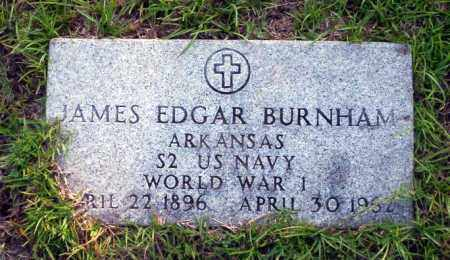 BURNHAM (VETERAN WWI), JAMES EDGAR - Ouachita County, Arkansas | JAMES EDGAR BURNHAM (VETERAN WWI) - Arkansas Gravestone Photos