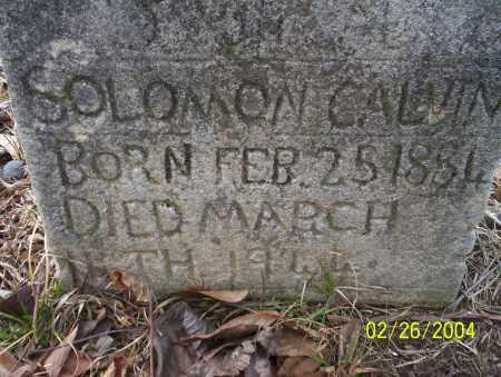 CALVIN, SOLOMON - Ouachita County, Arkansas | SOLOMON CALVIN - Arkansas Gravestone Photos