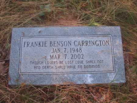 CARRINGTON, FRANKIE - Ouachita County, Arkansas | FRANKIE CARRINGTON - Arkansas Gravestone Photos