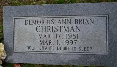 BRIAN CHRISTMAN, DEMORRIS ANN - Ouachita County, Arkansas | DEMORRIS ANN BRIAN CHRISTMAN - Arkansas Gravestone Photos